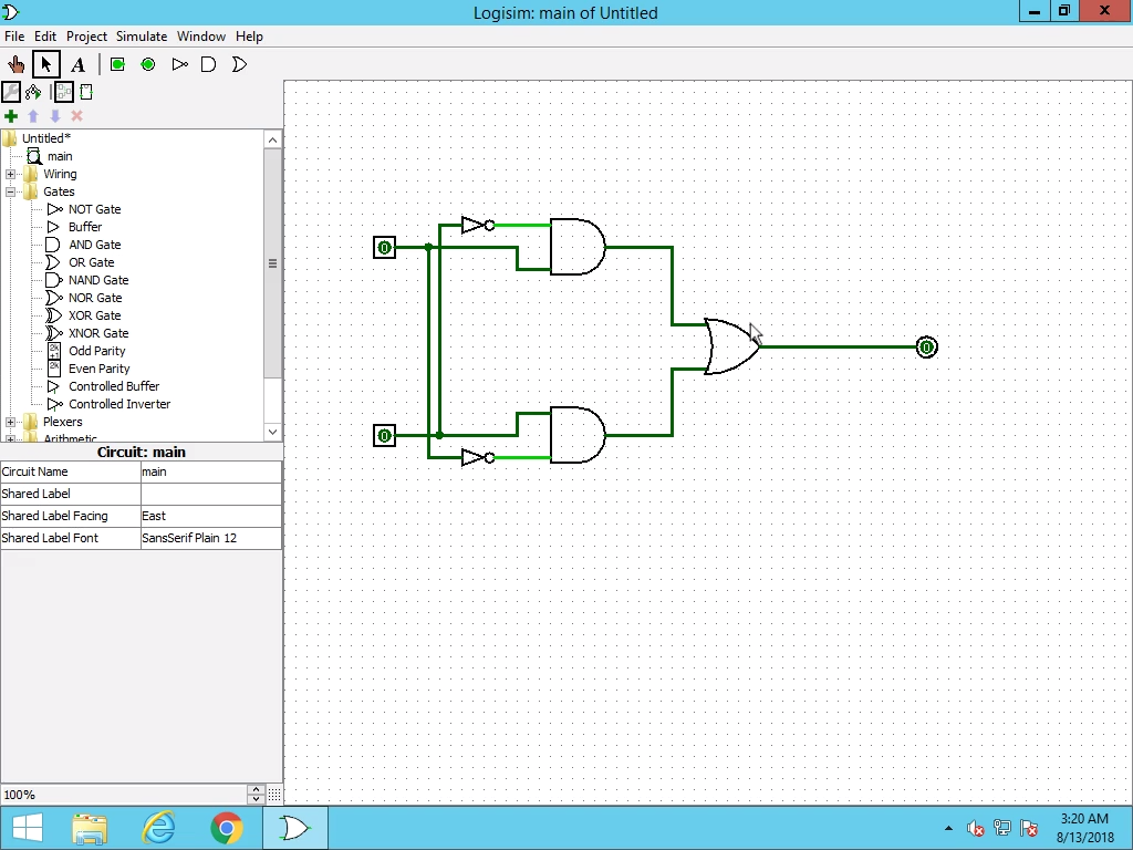 Logisim: Introduction to Designing Logic Circuits