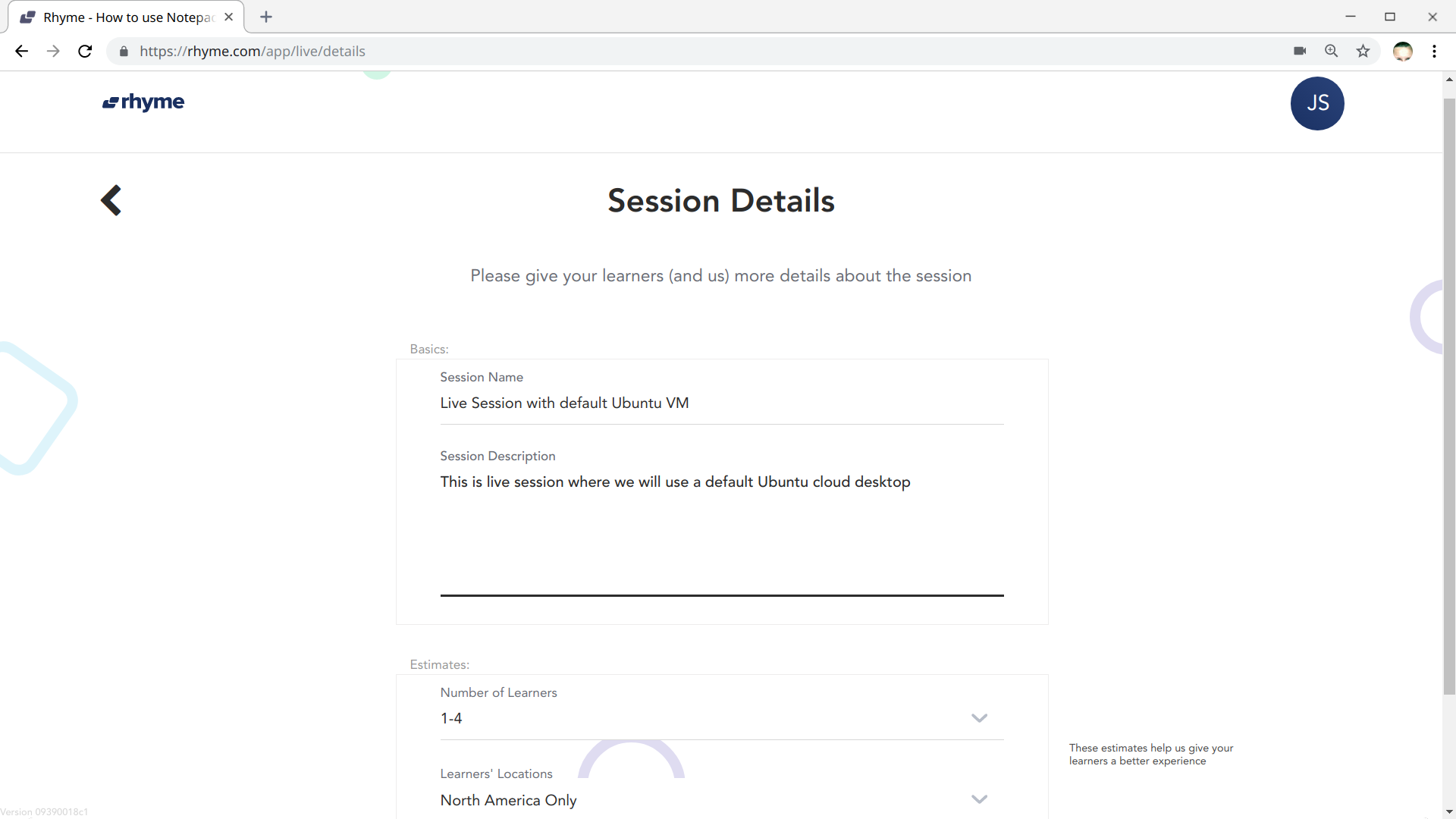 Give Session Details